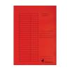VICTORIA Pólyás dosszié, karton, A4, VICTORIA, piros 5 db