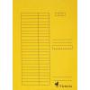 VICTORIA Pólyás dosszié, karton, A4, VICTORIA, sárga