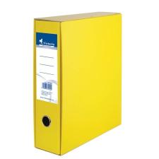 VICTORIA Tokos iratrendező, 75 mm, A4, karton, VICTORIA, sárga irattartó