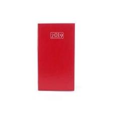 VICTORIA Zsebnaptár, álló elrendezésű, , piros (2019 évi) naptár, kalendárium