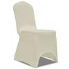 vidaXL 100 db krémszínű sztreccs székszoknya