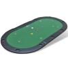 vidaXL 10 személyes összecsukható pókerasztal zöld