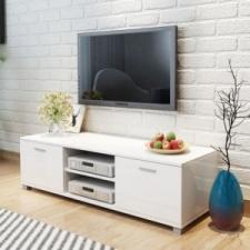 vidaXL 140x40,3x34,7 cm TV szekrény magasfényű fehér bútor