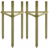 vidaXL 2 db FSC impregnált fenyő fa támasz 50 x 45 x 150 cm
