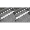 vidaXL 2db lineáris rozsdamentes acél hullám zuhany lefolyó 1030x140mm