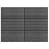 vidaXL 6 darab szürke WPC csempe 60 x 30 cm 1 m²