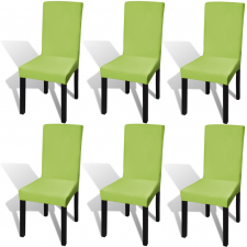 vidaXL 6 db nyujtható szék huzat zöld bútor