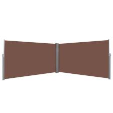 vidaXL barna behúzható oldalsó napellenző 160 x 600 cm fogó