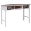 vidaXL barna fa íróasztal 110 x 45 x 76 cm
