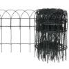 vidaXL Bővíthető Pázsit Szegélyező Határ Kerítés 10 x 0,4 m