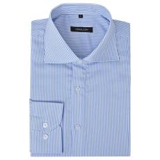 vidaXL Csíkos fehér és kék XL méretű üzleti férfi ing
