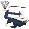 vidaXL elektromos dekopírfűrész lábpedállal és LED-lámpával 125 W
