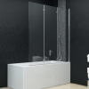 vidaXL ESG zuhanykabin 3-paneles összecsukható ajtóval 130 x 138 cm