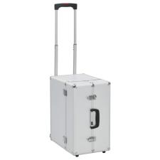 vidaXL ezüstszínű alumínium pilótabőrönd 47 x 39 x 27 cm kézitáska és bőrönd