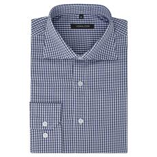 vidaXL Fehér és tengerészkék S méretű férfi üzleti ing