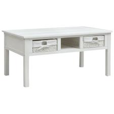 vidaXL fehér fa dohányzóasztal 99,5 x 60 x 48 cm bútor