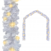 vidaXL fehér karácsonyi füzér LED-es izzókkal 5 m