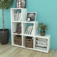 vidaXL Fehér lépcsős polc 107 cm bútor
