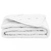 vidaXL Fehér steppelt könnyű matracvédő 90 x 200 cm