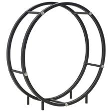 vidaXL fekete acél tűzifatároló 70 x 20 x 70 cm hűtés, fűtés szerelvény