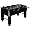 vidaXL fekete MDF és acél csocsóasztal 140 x 74,5 x 87,5 cm