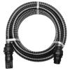 vidaXL fekete szívótömlő csatlakozókkal 4 m 22 mm