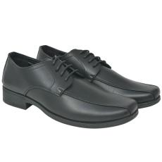 vidaXL Férfi business cipő fűzős fekete 40-es méret PU bőr