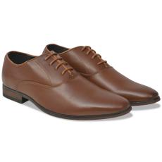 vidaXL Férfi fűzős business cipő barna 43 -mas méret PU bőr