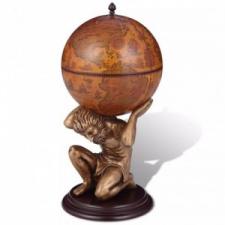 vidaXL Földgömb alakú bárszekrény Atlasz szoborral 42 x 42 x 85 cm bútor