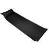 vidaXL Gumimatrac 6 x 66 220 cm Fekete Felfújható párna