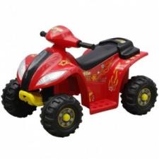 vidaXL Gyerek Quad Elektromos Kisautó Piros és Fekete lábbal hajtható járgány