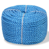 vidaXL kék polipropilén sodrott kötél 12 mm 100 m