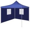 vidaXL kék színű összecsukható sátor 2 fallal 3 x 3 méter