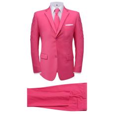 vidaXL két darabos férfi öltöny nyakkendővel méret 50 rózsaszín