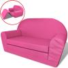 vidaXL Kihajtható rózsaszín gyerek társalgószék
