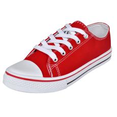 vidaXL Klasszikus női alacsony szárú fűzős vászon tornacipő méret 37 piros