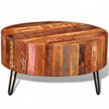 vidaXL Kör alakú tömör újrahasznosított fa dohányzóasztal bútor