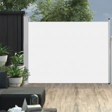 vidaXL krémszínű behúzható oldalsó teraszi napellenző 170 x 500 cm kerti bútor