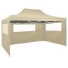 vidaXL krémszínű összecsukható sátor 3 fallal, 3 x 4,5 méter