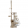 vidaXL Macska fa/macskabútor 220 - 240 cm 1 ház bézs mancsnyomatokkal