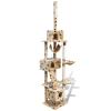 vidaXL Macska fa/Macskabútor 220 - 240 cm 3 ház bézs mancsnyomatokkal