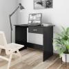 vidaXL Magasfényű fekete forgácslap íróasztal 100 x 50 x 76 cm