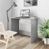 vidaXL Magasfényű szürke forgácslap íróasztal 100 x 50 x 76 cm