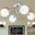 vidaXL Mennyezeti lámpa, 4 db g9-es izzóhoz tartozó dróthálós árnyékolóval
