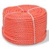 vidaXL narancssárga polipropilén sodrott kötél 8 mm 500 m