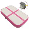 vidaXL Rózsaszín pvc felfújható tornamatrac pumpával 60 x 100 x 10 cm