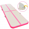 vidaXL rózsaszín PVC felfújható tornaszőnyeg pumpával 300x100x10 cm
