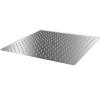 vidaXL Rozsdamentes acél zuhanyrózsa 40x40 cm négyszögletes
