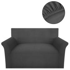 vidaXL rugalmas bordázott poliészter szövet kanapé huzat szürke lakástextília