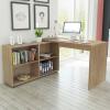 vidaXL sarok íróasztal 4 polccal tölgy